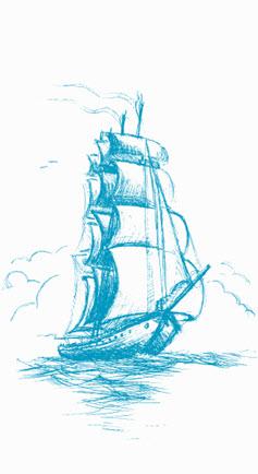 Illustration Segelschiff